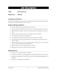 14 Great Hostess Job Resume Examples