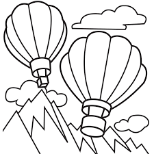 Small Picture Free Hot Air Balloon Coloring Pages For Kids 1st Birthday
