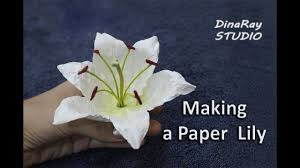 Making Paper Lily Youtube