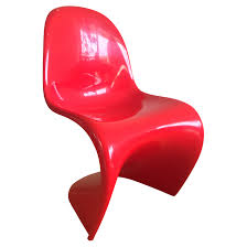 chaise panton rouge de verner panton pour vitra chaises