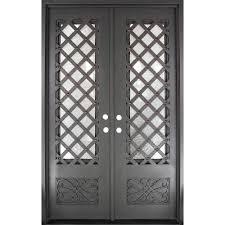 Craftsman Double Door Front Doors Exterior Doors The Home - Iron exterior door