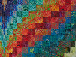 Bargello Flame Quilt -- gorgeous carefully made Amish Quilts from ... & ... Hand Painted Greens, orange, red, blue Bargello Flame Quilt Photo 5 ... Adamdwight.com