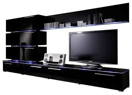 75 tv stand. Dortmund Entertainment Center Wall Unit With LED Lights 75\ 75 Tv Stand