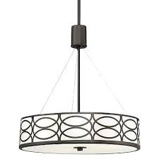 metal drum light revel sienna 3 light metal drum chandelier glass oil rubbed b restoration hardware metal drum light