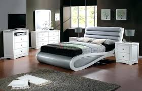 White Modern Bedroom Sets Designs Contemporary Furniture With Gray ...