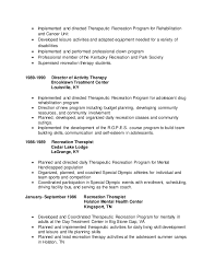 Recreational Therapist Cover Letter Sarahepps Com