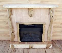 image of rustic electric fireplaces decor