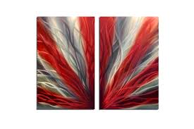 radiance red 31 metal wall art abstract sculpture modern decor  on wall art red with radiance red 31 metal wall art abstract sculpture modern decor
