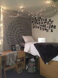 cool dorm lighting. this black and white dorm bedding creates such a cute room cool lighting u