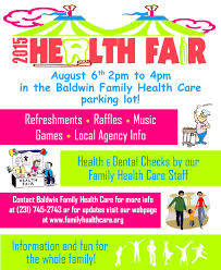 Health Fair Flyers 2015 Health Fair Family Health Care