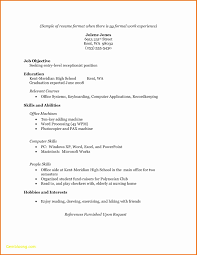 Easy Resume Templates For Highschool Students Unique Basic Resume
