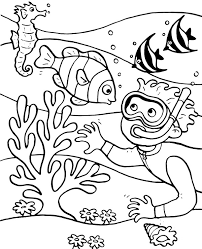 Coral Reef Coloring Page To Print Or Download For Free