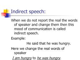 Direct Indirect Narration