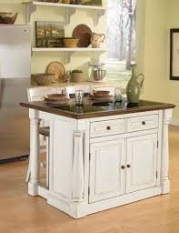 Kitchen, White Square Vintage Wooden Kitchen Islands For Small Spaces  Stained Design For Small Kitchen ...