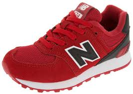 new balance shoes red and black. new balance childrens 574 high visibility red black shoes and a