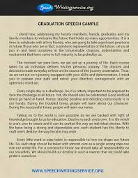 speech writing services samples