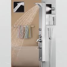 Silbernes Sanlingo Alu Duschpaneel Duschsäule Mit Wasserfall