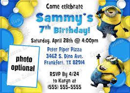 Design Own Party Invitations Minion Party Invitations To Design Your Own Party Invitation