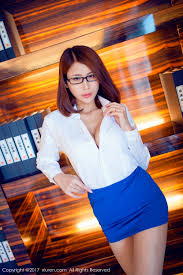office girl wallpaper. Beautiful Wallpaper Office Girl Open Shirt Cleavage Blue Skirt Leaning Women With Glasses Short  Hair Low Neckline White In Office Girl Wallpaper