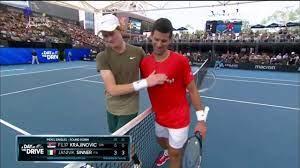 Novak Djokovic vs Jannik Sinner - Adelaide Australia 2021 Exhibition -  YouTube