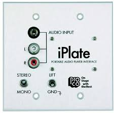pro co sound iplate portable audio player interface wall plate tcncd300337 photo