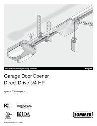 sommer direct drive garage door opener manual