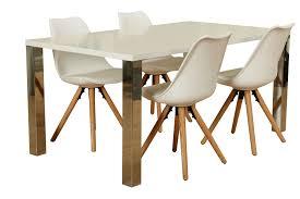 5tlg Essgruppe Esstisch 90x160 Esszimmer Holz Stuhl Stühle Tisch
