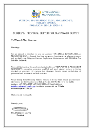 Letter Proposal Format Awesome PROPOSAL LETTER FOR MANPOWER REQUEST TW PHIL
