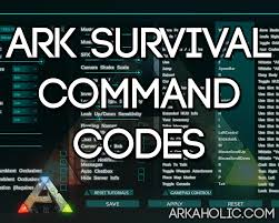ark survival evolved command codes cheats