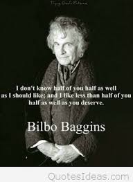 bilbo baggins new picture card with quote