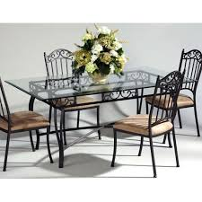 rectangle glass dining room table. Wrought Iron Rectangular Glass Dining Table Rectangle Room