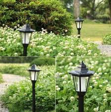Solar Powered Outdoor Lights Uk Auto Outdoor Garden Led Solar Power Path Cited Light Landscape Lamp Post Lawn Uk