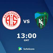Antalyaspor vs Kocaelispor live score, H2H and lineups