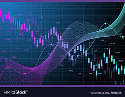 Stock Market Graph Or Forex Trading Chart For