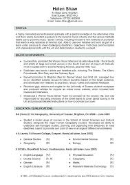 Sample Resume Personal Profile – Lespa