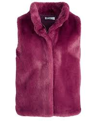 Coats Epic Thread Color Chart Big Girls Solid Faux Fur Vest Created For Macys