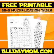 Free Printable Star Wars Math Worksheets! BB-8 Multiplication ...