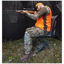 strong dura mesh fabric lets air flow for cool breathability guide gear 360 degree swivel hunting blind chair