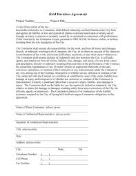 Hold Harmless Agreements 24 Hold Harmless Agreement Templates Free Template Lab 20