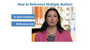 How To Reference Multiple Authors In Apa Style Apa Publication