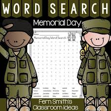 Fern Smith's Free Memorial Day Word Search (With images) | Memorial day  activities, Classroom freebies, Fern smith's classroom ideas