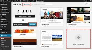 puedes instalar temas gratuitos ofrecidos por wordpress org o subir un tema ercial o gratuito que tengas en tu pc desde la opción subir tema
