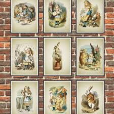 alice in wonderland wall art poster set of 9 nursery home decor on alice wonderland wall art with best alice in wonderland wall art products on wanelo