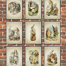 alice in wonderland wall art poster set of 9 nursery home decor on alice in wonderland nursery wall art with best alice in wonderland nursery products on wanelo