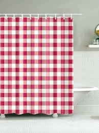 gingham shower curtain gray and white with hook p cat