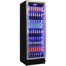 upright glass door bar fridge