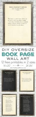 Explore these ideas and more! Oversize Book Page Wall Art ...