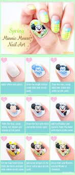 Spring Minnie Mouse Nail Art | nailbees