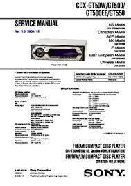 solve sony cdx gt100 problem pdf