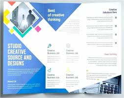 Quad Fold Brochure Template Word Brochure Templates In Word Tri Fold Template Free Download Z